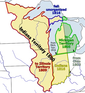Location of Indiana Territory