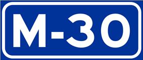 Autopista M-30 shield