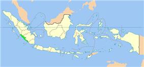 Location of Bengkulu in Indonesia
