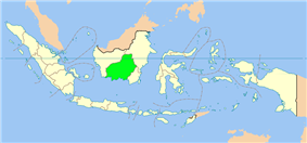 Location of Central Kalimantan in Indonesia.