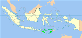 Location of East Nusa Tenggara in Indonesia