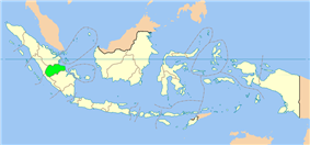 Location of Jambi in Indonesia