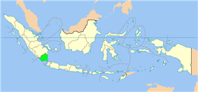 Location of Lampung in Indonesia