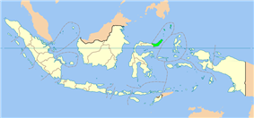 Location of North Sulawesi in Indonesia