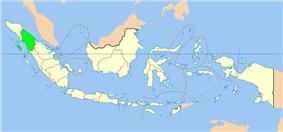 Location of North Sumatra in Indonesia