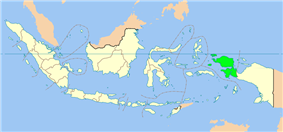 Location of West Papua in Indonesia