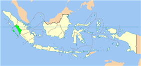 Location of West Sumatra in Indonesia