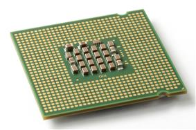 Bottom view of an Intel Pentium 4 Prescott 2M 640 model