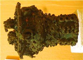 Intricate bronze ceremonial pot, 9th century, Igbo-Ukwu