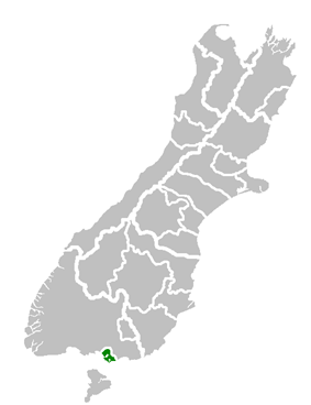 '''Invercargill City's location within the '''