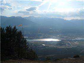 Invermere, British Columbia, with Mount Nelson in the distance
