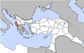 Location of Janina Vilayet
