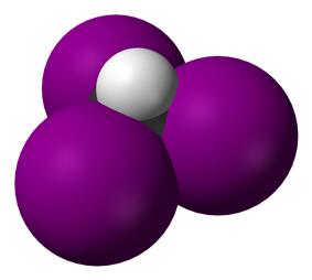 Spacefill model of iodoform