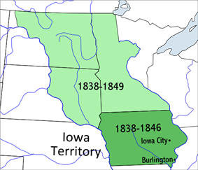 Location of Iowa Territory