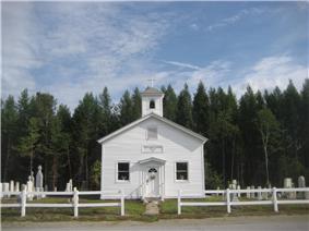 St. Mary's Church at Irishtown, a hamlet in Minerva.