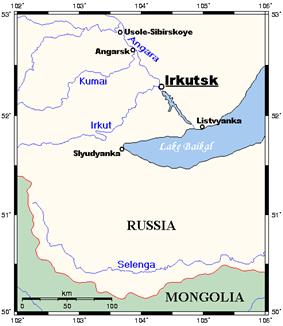 Irkutsk near Lake Baikal