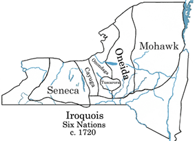 Iroquois Six Nations c. 1720