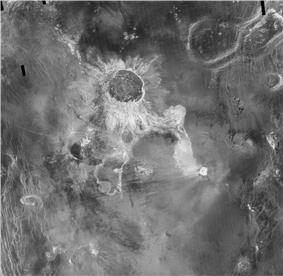 175-kilometer Isabella crater