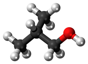 Ball-and-stick model of isobutanol