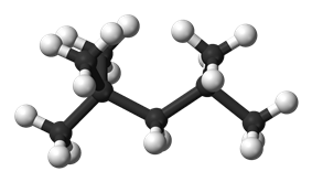 Ball and stick model of 2,2,4-trimethylpentane