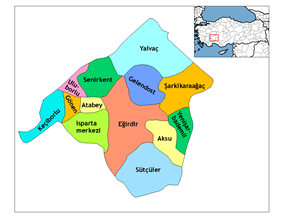 Districts of Isparta