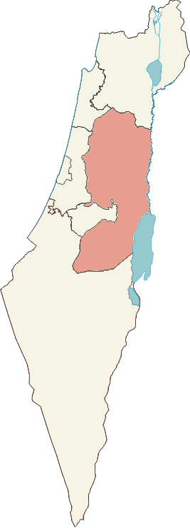 Map of Judea and Samaria Area
