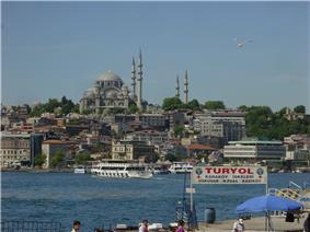 Istanbul - Süleymaniye camii dal Corno d'oro - Foto G. Dall'Orto 28-5-2006.jpg