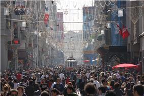 İstiklal Avenue in Beyoğlu