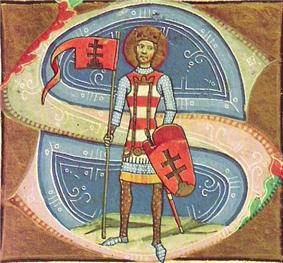 King St Stephen in the Illuminated Chronicle