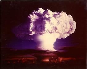 An image of the explosion of the nuclear bomb Ivy Mike.