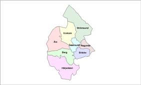 Location of Jämtland Municipalities