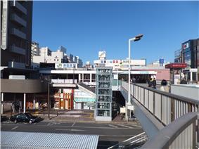 Area around JR Tsudanuma Station
