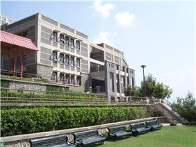 View of the Academic Block of Jaypee University of Information Technology