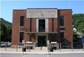 Jackson County courthouse in McKee
