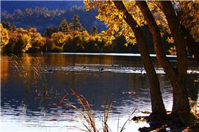Jackson Lake,  west of Big Pines