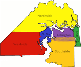 Divisions of Jacksonville