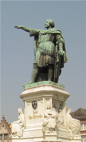 Statue of Jacob of Artevelde on the