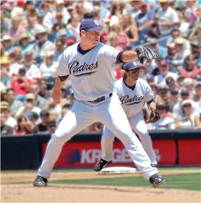 Jake Peavy in a Padres uniform