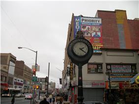 Sidewalk Clock at 161-11 Jamaica Avenue, New York, NY