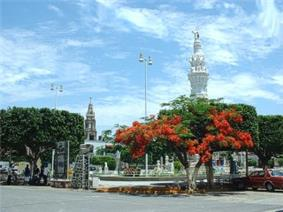 The main square of Jamay, Jalisco