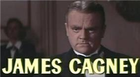 face shot of Cagney with short hair parted slightly off center.