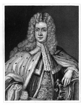 portrait of bewigged 18th-century aristocrat