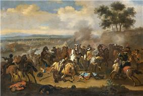 Painting of a battle scene