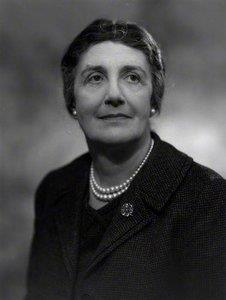 Clack and white portrait photograph of Janet Vaughan