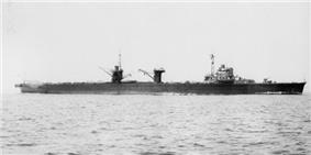 Mizuho off Tateyama, Japan, in 1940