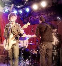 Richie Egan performing with Jape