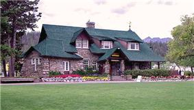 Exterior view of the Jasper Park Information Centre