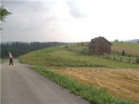 Southern tip of Jaworzynka village