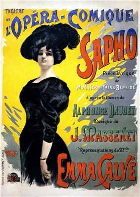theatre poster listing names of author, composer and star