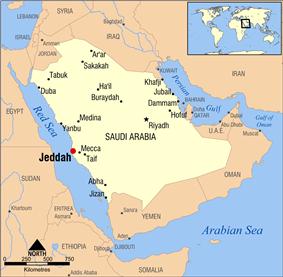 Location of Yalamlam is ES.ofJeddah